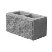 Блок колотый Камень 2-х пустотный (20х20х40 см)