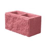 Блок колотый «Камень 2-х пустотный, цветной»