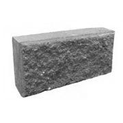 Блок колотый камень серый (9,5х20х40 см)