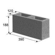 Блок перегородочный, заборный (12х20х40 см)