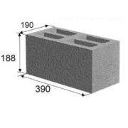 Блок стеновой «Керамзитовый» (20х20х40 см)