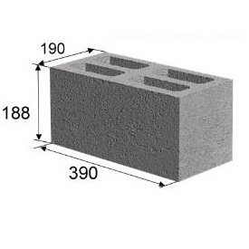 Блок стеновой Керамзитовый
