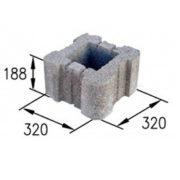 Блок столбовой серый (32х32х20 см)