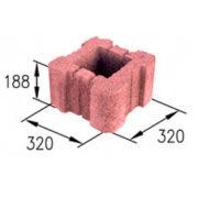 Блок столбовой цветной (32х32х20 см)