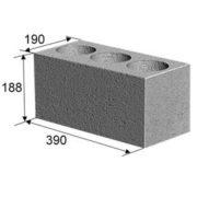 Камень стеновой 3 пустотный усиленный (20х20х40 см)