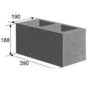 Блок 2 пустотный сквозной (20х20х40 см)