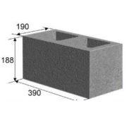 Камень стеновой 2 пустотный с усилен дном (20х20х40 см)